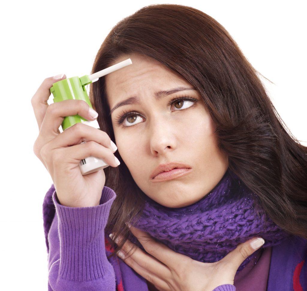 При гриппе болит горло
