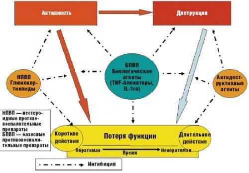 Действие биологических препаратов при артрите
