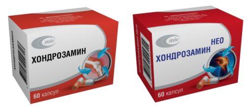 Препараты Хондрозамин и Хондрозамин Нео