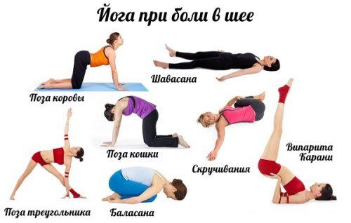 Йога при боли в шее