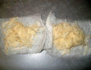 Компресс с тертым картофелем при бурсите