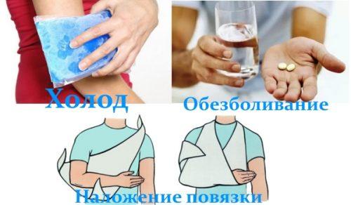 Первая помощь при травме локтя