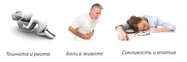 Побочные явления при передозировке