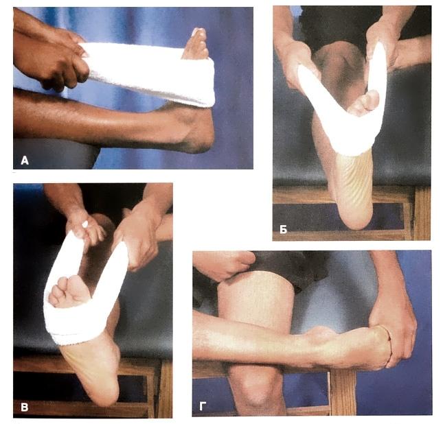 Разработка мышц и сухожилий стопы