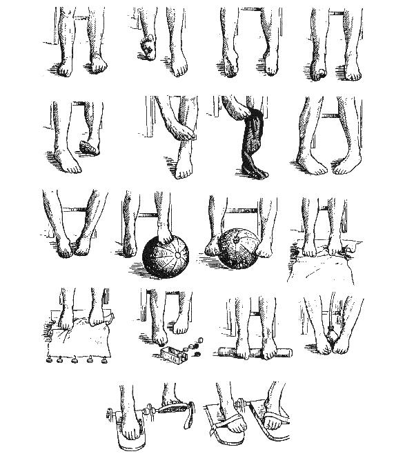 Упражнения для суставов стоп
