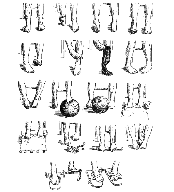 Упражнения при деформации стоп