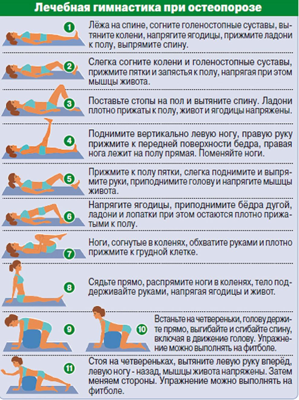 Лечебные упражнения при остеопорозе