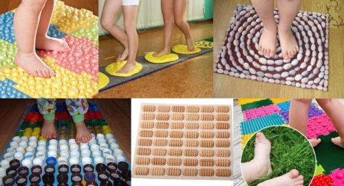Варианты массажных ковриков для стоп
