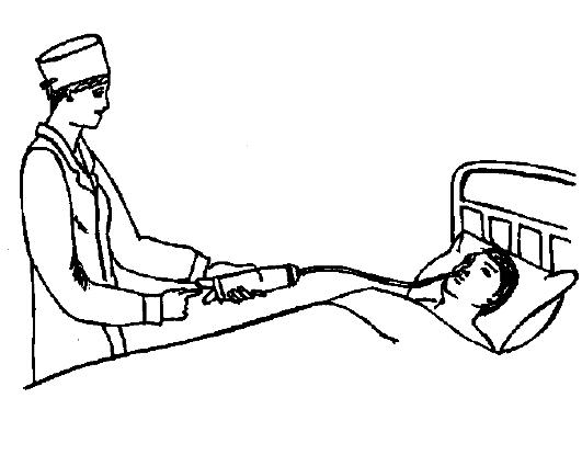 Зондовое кормление больного
