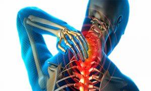Сильная боль в области шеи