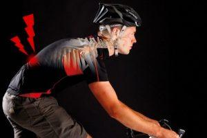 Боль в спине на велосипеде