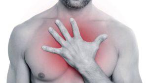 Боль от грудного остеохондроза