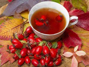 Противовоспалительный чай с шиповником