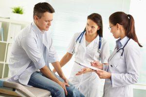 Диагностика артрита врачом