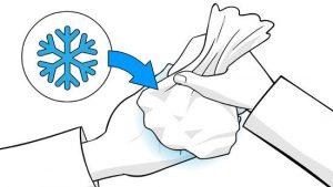 Холодный компресс на пальцы