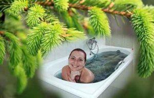 Хвойные ванны для лечения бурсита