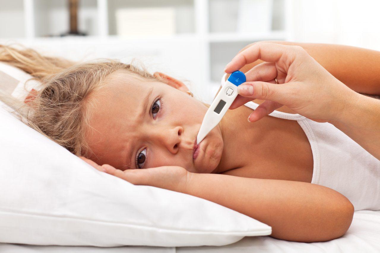 После гриппа температура 37