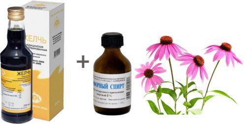 Ингредиенты для мази с желчью