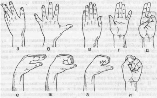 Исследование работоспособности пальцев