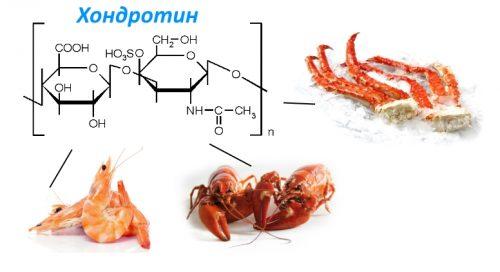 Источники хондротина в морепродуктах