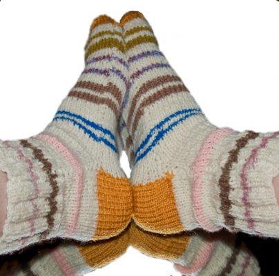 Компресс в носочках при пяточной шпоре
