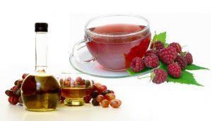 Малиновый чай с винным уксусом