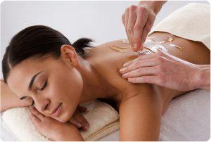 Медовый массаж позвоночника