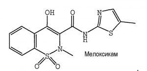 Мелоксикам — действующее вещество