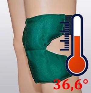 Нагрев наколенника до температуры тела