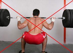 Противопоказание сильных нагрузок на спину