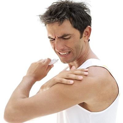 Нанесение геля при воспалении