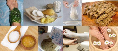 Народные средства для лечения связок голеностопа