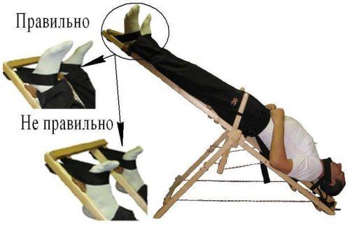 Крепление носков для качели Яловицына