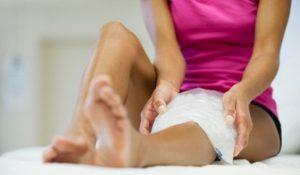 Охлаждение колена при бурсите