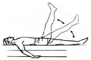 Подъем ноги лежа