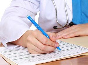 Получение заключения врача