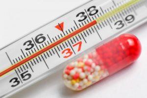 Повышение температуры при остеомиелите