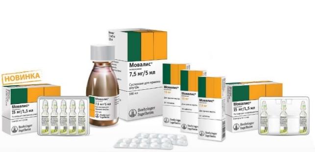 Формы препаратов Мовалис
