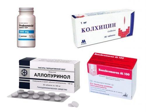 Препараты при подагре