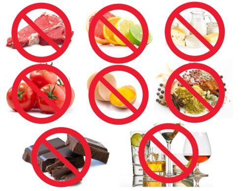 Противопоказанные продукты при диете Донга