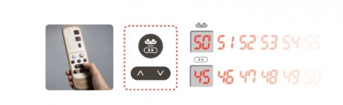 Настройка режима и температуры пультом