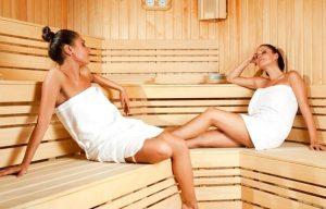 Расслабление мышц в сауне