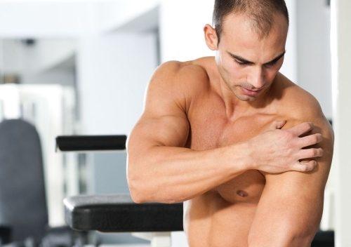 Растяжение связок плечевых суставов