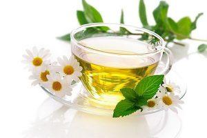 Чай с ромашкой с мятой