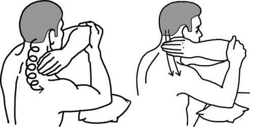 Движения для самомассажа шеи