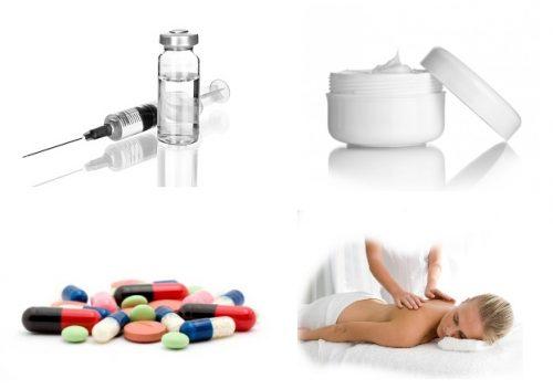 Виды средств при остеохондрозе