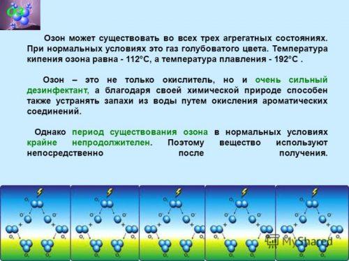 Свойства озона