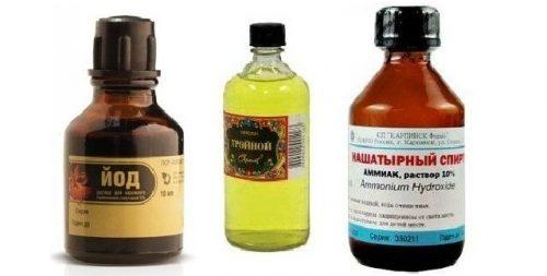 Тройной одеколон с йодом и нашатырным спиртом