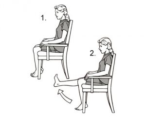 Упражнения на стуле при гонартрозе