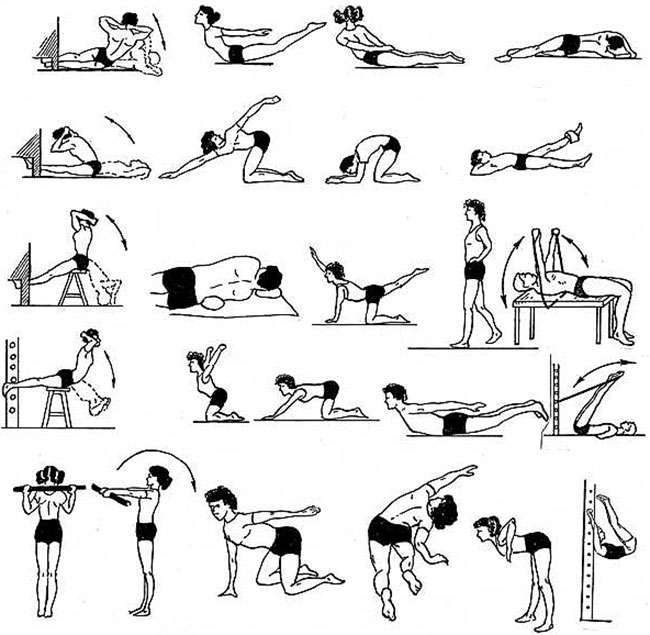 Упражнения при кифосколиозе